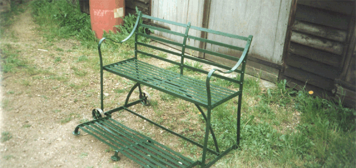 Garden Bench on Wheels