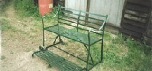 Mobile Garden Bench with Footrest